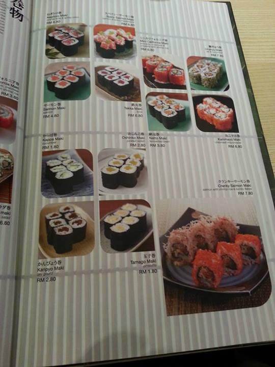 Strona z menu, ceny bardzo przyjemne!