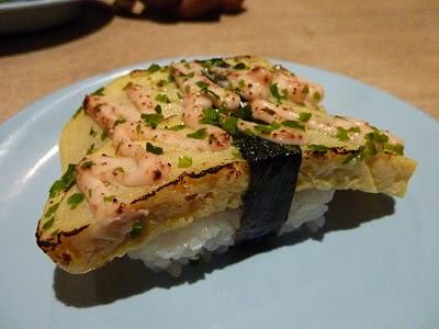 Moje ulubione sushi z omletem i japońskim majonezem, mniam!