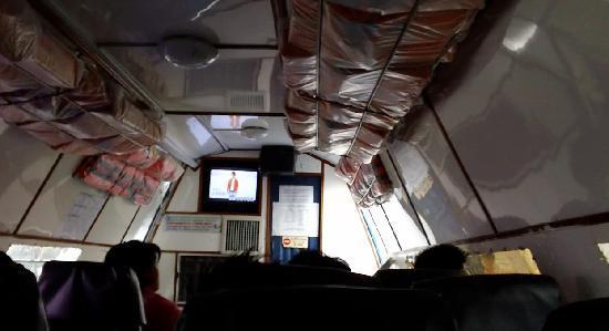 Wnętrze łódki z TV