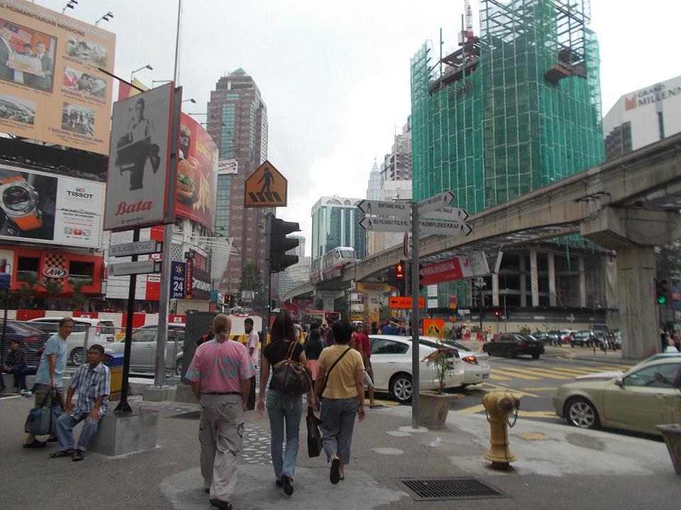 Bukit Bintang, centrum Kuala Lumpur.