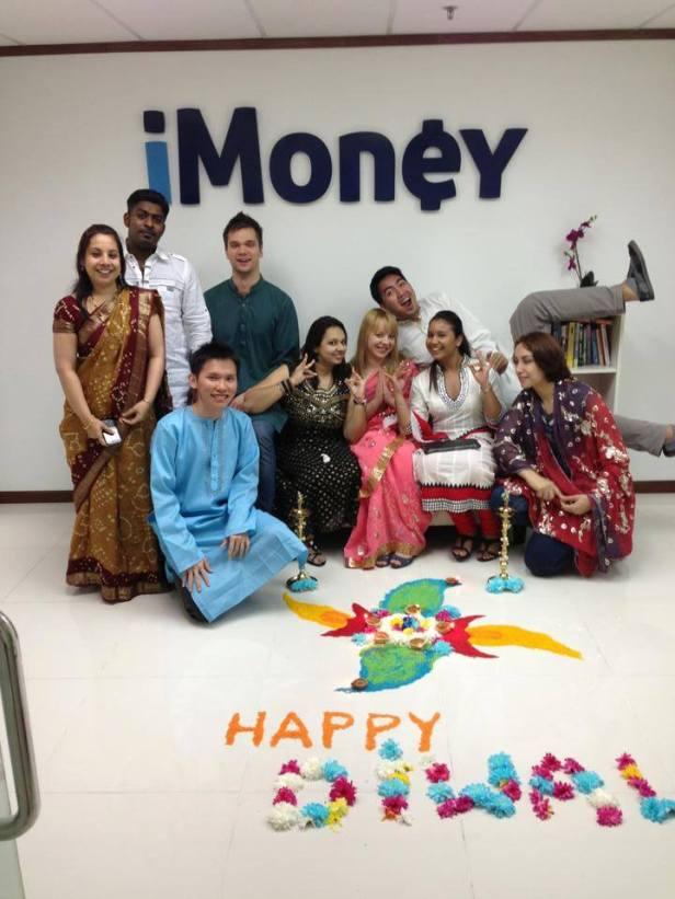 Moja najcudowniejsza startupowa ekipa  podczas święta Deepavali