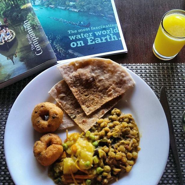 Moje śniadanie w Trivandrum - pychota!