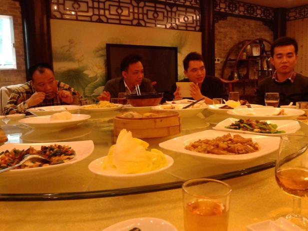 Kolacja w Chińskiej restauracji z firmą, w której odbywałam staż