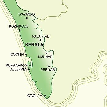 Munnar leży w środkowo-wschodniej części Kerali