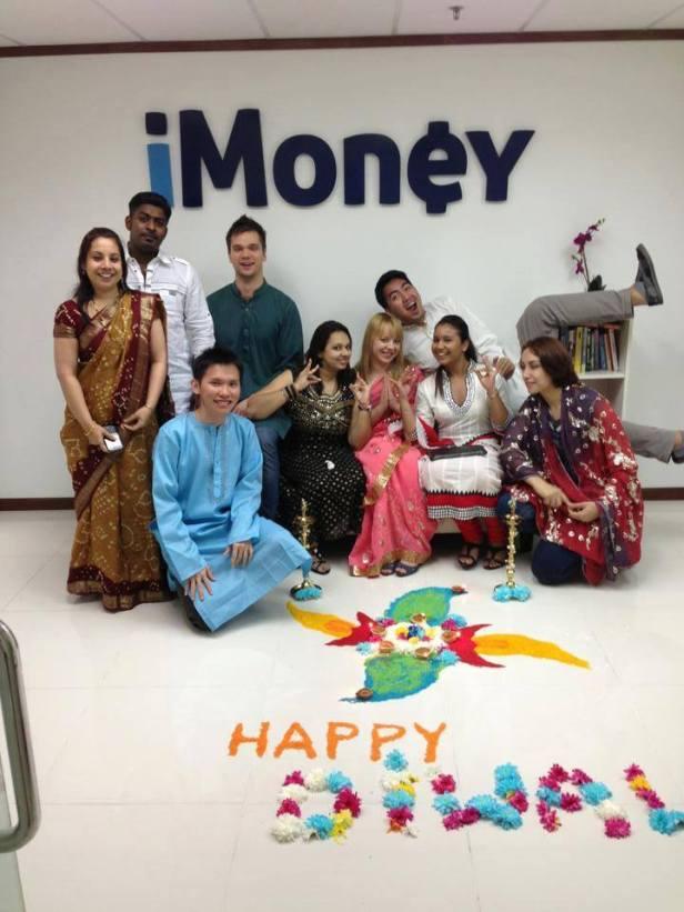 Obchody indyjskiego święta Deepavali w moim ex-biurze :)