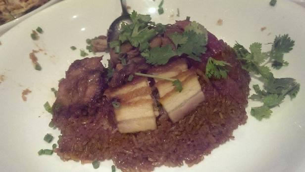 Ryż z różnymi rodzajami wieprzowiny: od boczku, przez schabik i wieprzowinę w sosie barbecque