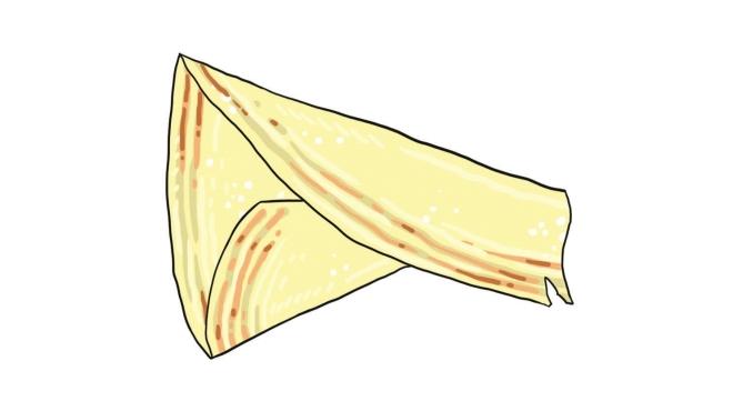 """Roti tissue, czyli chrupki duży """"wafel"""", który zwykle jest rolowany albo ustawiany w stożek. Tak duży, że nie mieści się na talerzu! Jeden wystarczy na 2 osoby. Zwykle podaje się go na słodko, z cukrem, oblanego mlekiem skondensowanym. Odrywaj kawałek po kawałku i delektuj się słodkim aromatem :) Do wyboru masz też curry na boku talerza, które przyniesie ci kelner, ale takie połączenie smaków może być traumatyczne dla niektórych. Cena: 2-4RM"""
