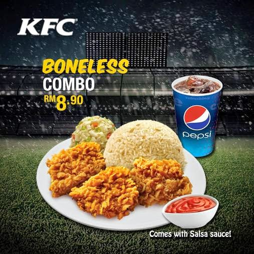 KFC Ronaldo Boneless Chicken Rice Combo RM8.90 2