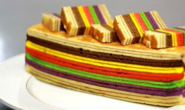 Ciasto warstwowe z Malezji
