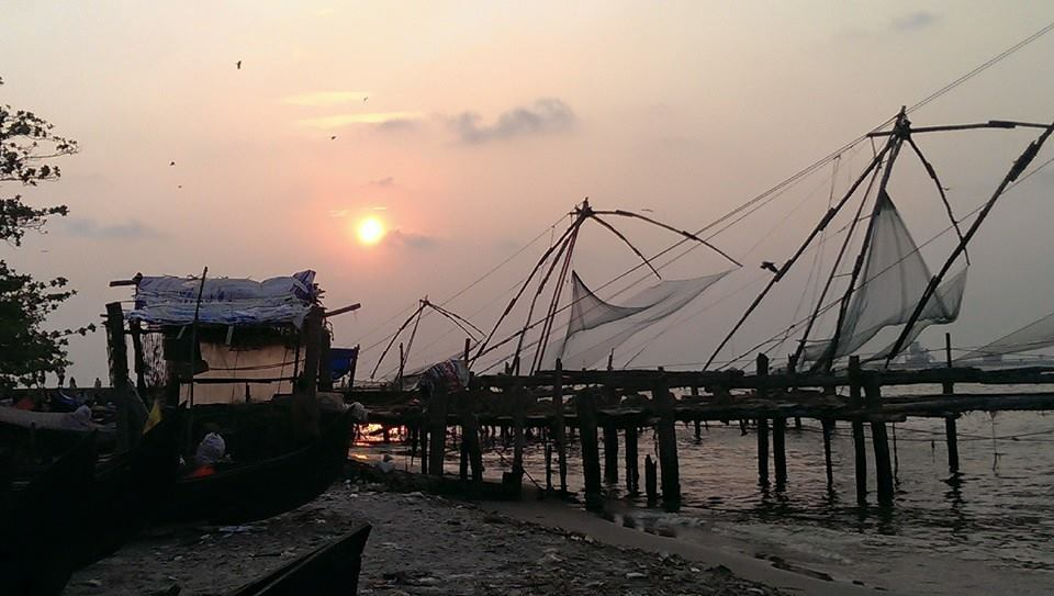 Sieci rybackie w Cochin
