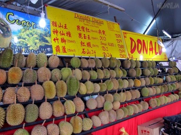 Słynne stoisko SS2 Durians w Petaling Jaya