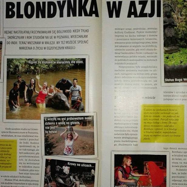 "Article about Zuzanna in Polish magazine ""Cogito"""