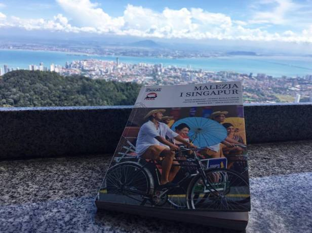 Zuzanna's books are actively used by tourists during their trips in Malaysia - this picture has been sent by one of the readers, taken on top of Penang Hill.