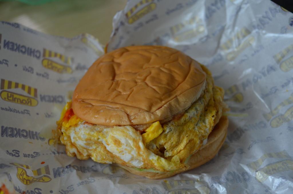 Burger speszyl, z jajkiem
