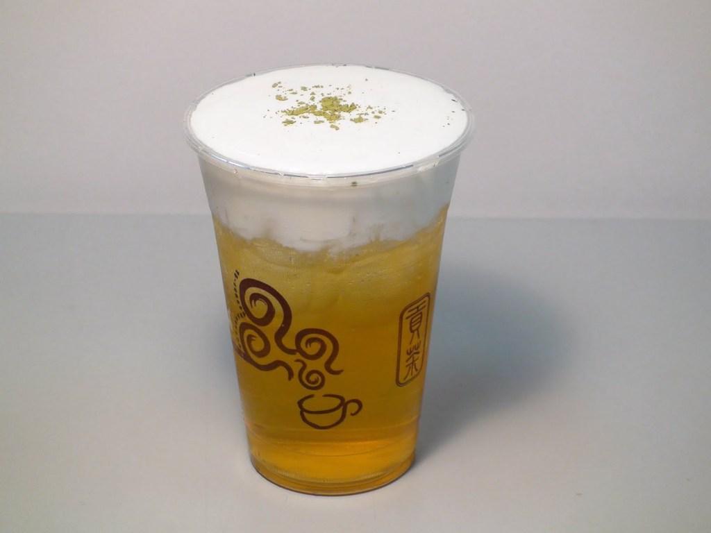 Moja ulubiona zielona herbata z pianką w Gong Cha