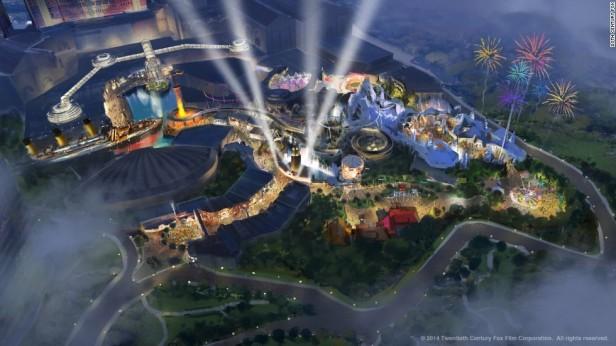Wizualizacja parku 20th Century Fox w Genting