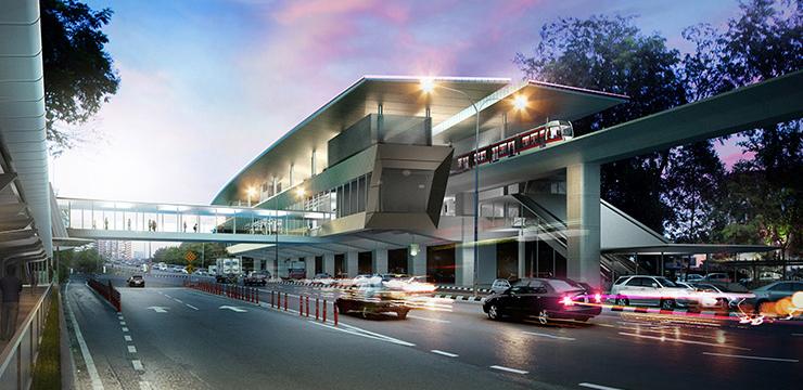 Jedna z nowych stacji MRT